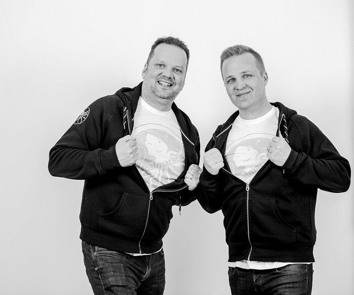 Qalmarin yrittäjät Ari Varjonen ja Saku Hautala