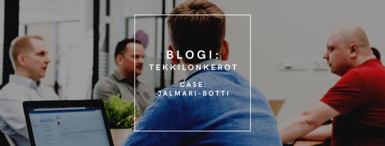 Qalmari tekkilonkerot blogisarja_chatbotin kehittämisen keveys Google Cloud Platformin avulla case Jalmari-botti